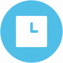 clock, square, time, time keeper, timer, wall clock, watch icon
