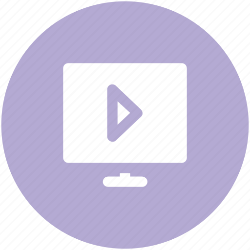 media, media player, monitor, multimedia, play presentation, play sign, video player icon