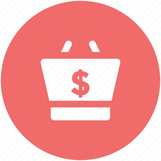 checkout, cost, dollar sign, e commerce, online shopping, shopping, shopping basket, shopping concept icon