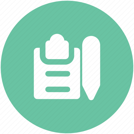 clipboard, document, edit, message, pen, task, writing icon