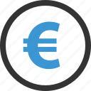 coin, euro, money, sales, selling, sign, wealth icon