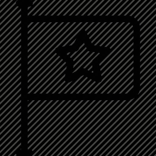 ensign, flag, location flag, navigation flag, star flag icon