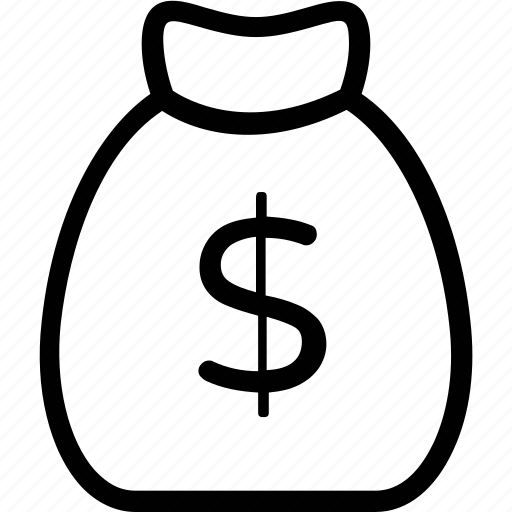 cash, investment, money bag, money sack, savings icon