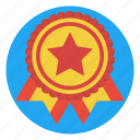 achievement, award, badge, contest, prize, ribbon, winner icon