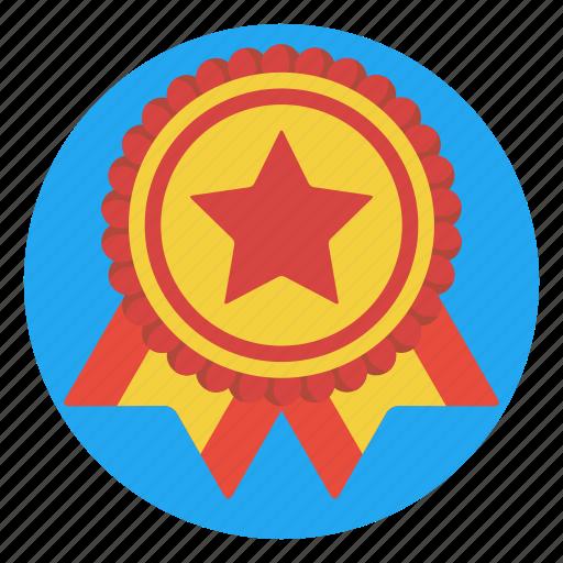 achievement, award, badge, contest, prize, ribbon, winner icon