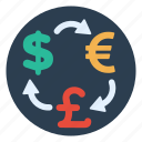 atm, dollar, euro, exchange, international, money, pound icon