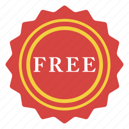 badge, complimentary, free, giveaway, handout, prize, sign icon