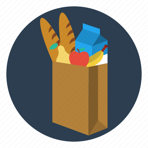 bag, cooking, delivery, food, groceries, ingredients, shop icon