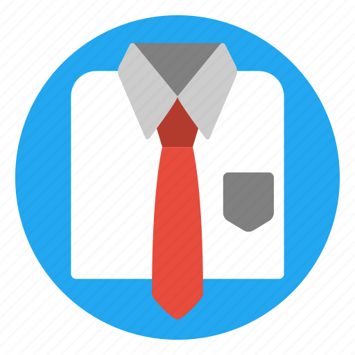 business, clothes, formal, men, office, shirt, tie icon