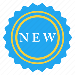 badge, latest, modern, new, recent, sale, sign icon