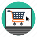 laptop, market, online, retail, shopping, site, store icon