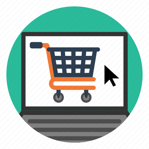 laptop, market, online, retail, shopping, site, store icon