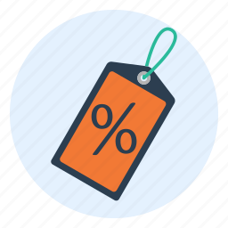 closeout, discount, percent, price, sale, savings, tag icon
