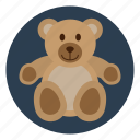 bear, child, childhood, kid, play, teddy, toy icon