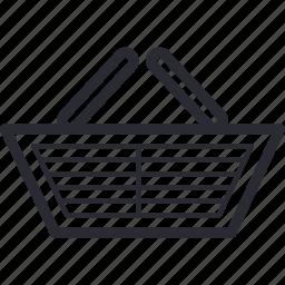 basket, goods, market, shopping icon