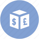 commerce, currency symbols, dollar, finance, money, pound, wealth icon