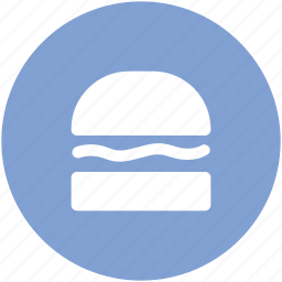 bun, burger, diet, fast food, food, hamburger, junk food icon