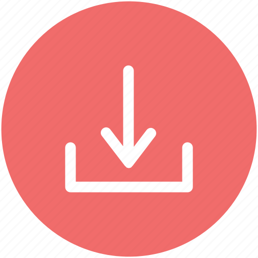 arrow symbol, direction, down, download sign, downloading, downward, web element icon