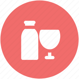 alcohol, alcoholic beverage, alcoholic drink, beverage, bottle, drink, glass icon