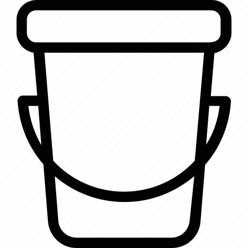 bucket, hand bucket, pail, sand pail, water pail icon