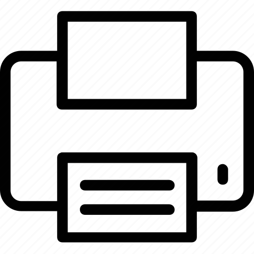 copier, photocopier, printer, printing press, typographer icon