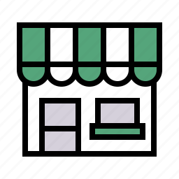 building, market, shop, store icon
