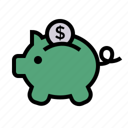 bank, payment, piggybank icon