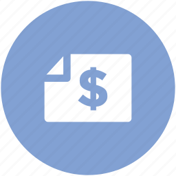 bank document, bank statement, banking, commerce, dollar statement, finance, financial document icon