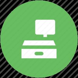 cash machine, cash register, cash till, checkout, paying, sale point, shopping icon