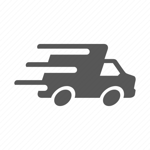 delivery express quick shipping transportation truck icon