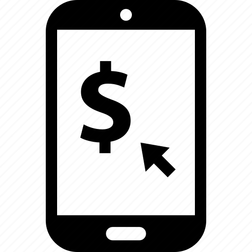 cell, dollar, money, phone, sales, shopping icon
