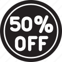 fifty, low, percent, price, sale, shop, shopping icon
