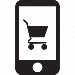 cart, online, phone, screen, shopping, smartphone, touvh icon