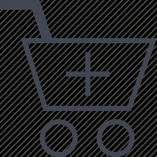 Shop, add, online icon