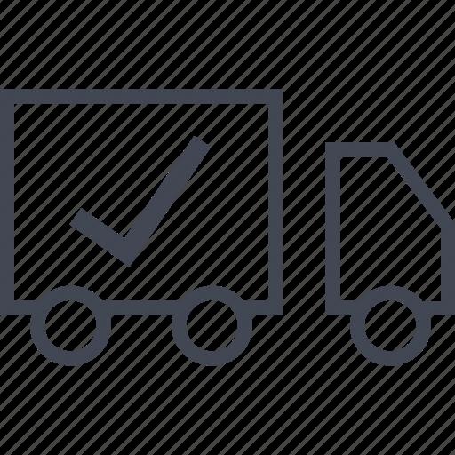 checkmark, shopping icon