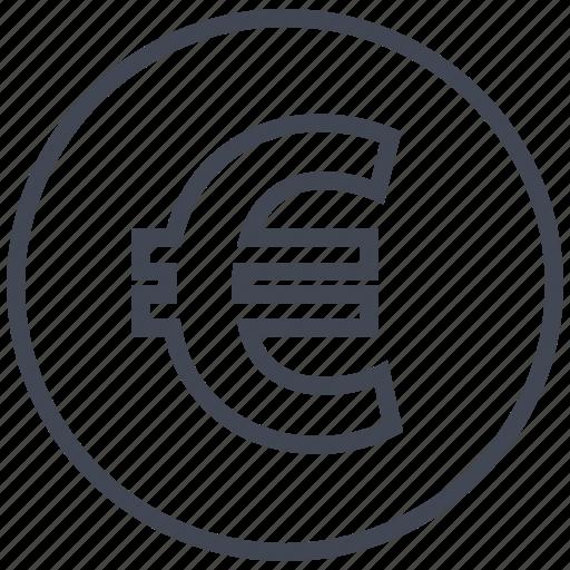 coin, euro, online, shop icon