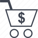 cart, dollar, shop icon