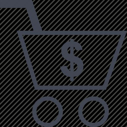 cart, dollar, shop icon