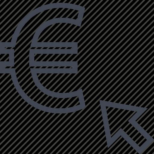 euro, online, shop icon