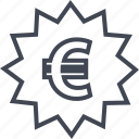 euro, online, shop, tag icon
