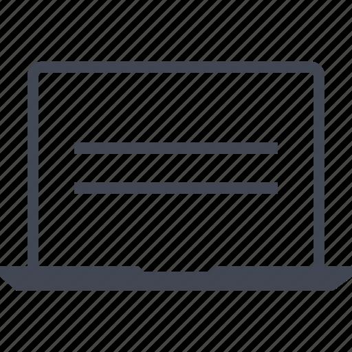 laptop, online, shop icon