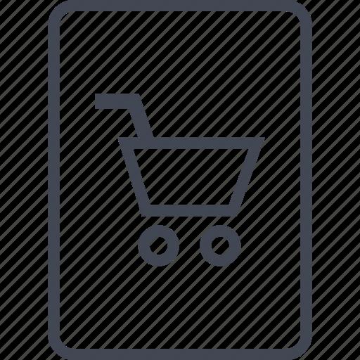 cart, id, passport, shopping icon