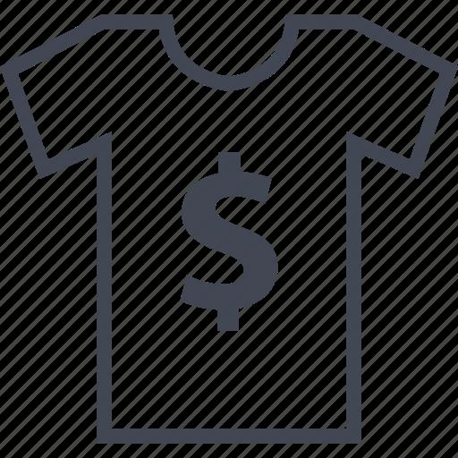 buy, dollar, tshirt icon