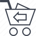add, back, cart icon