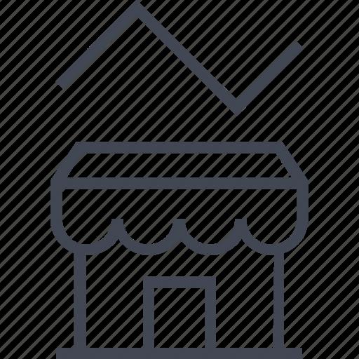 analytics, seo, store, web icon