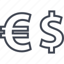dollar, euro, sign icon
