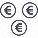euro, money, sign icon