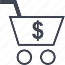 american, cart, shopping icon
