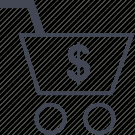 american, cart, shopping icon