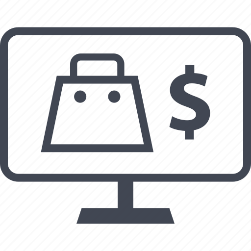 dollar, shopping, sign icon